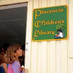 childrens library sign placenciia belize