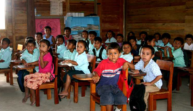first bladen rc school classroom belize 2003